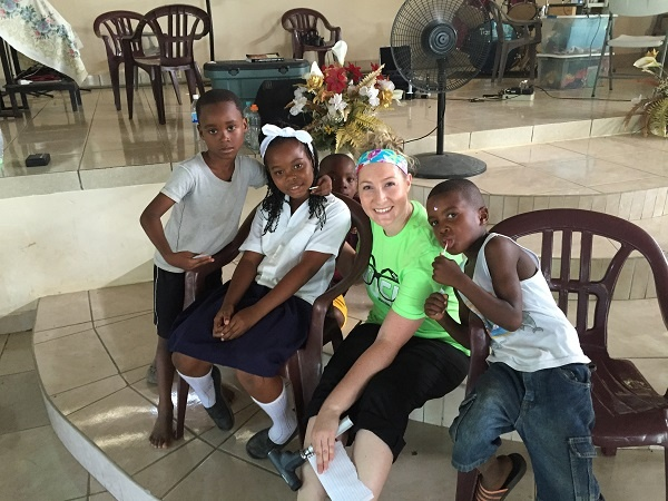 Ashley Zinser, a fourth-year student at Northeastern State University Oklahoma College of Optometry, on the last day of a 2015 mission trip to Honduras with Student Volunteer Optometric Services to Humanity. During four days, the team of 17 students and three doctors saw more than 1,400 patients.