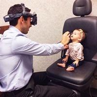 Lyla visits dad, Dr. Stephen Anderson, at work.