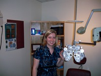 Dr. Laura Dowd in one of the exam rooms at VA Maine.