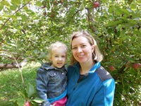 Dr. Laura Dowd and her daughter, Iris, where they love to be: outdoors.