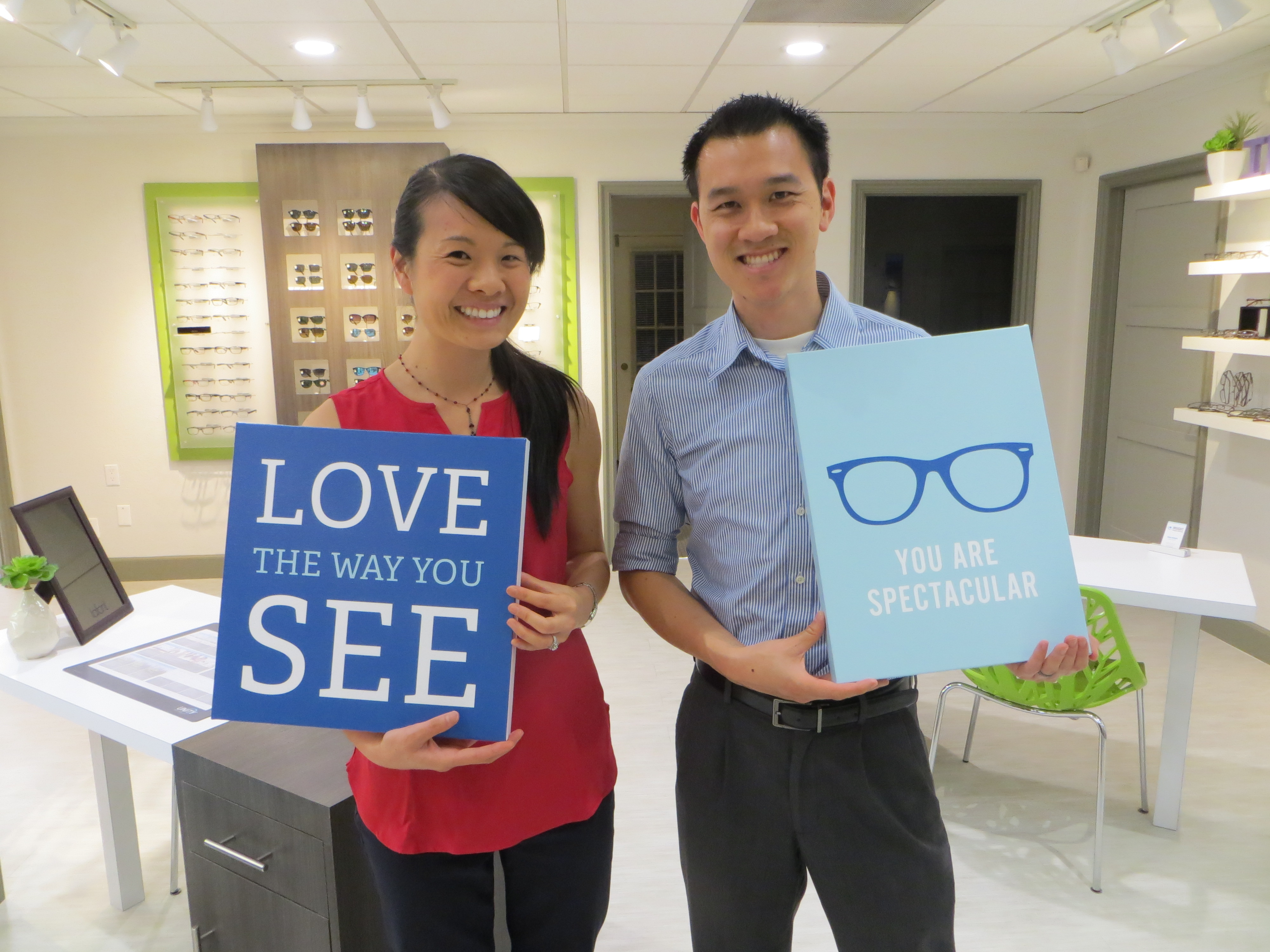 Co-owners of Insight Vision Center Optometry, Dr. Valerie Lam and Dr. Thanh Mai.