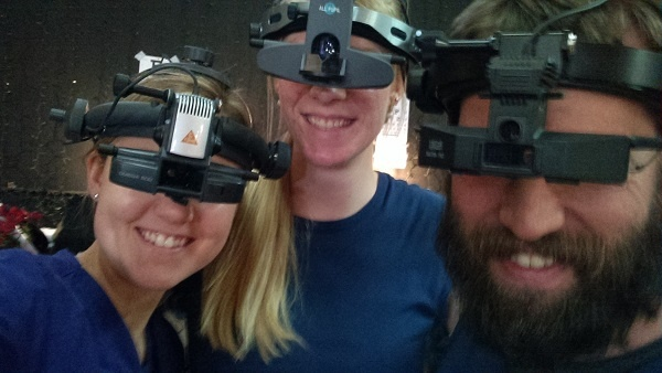 Emily Krueger, left, a second-year student at Michigan College of Optometry at Ferris State University, and others have a fun moment during a mission trip in Mexico with the Fellowship of Christian Optometrists.