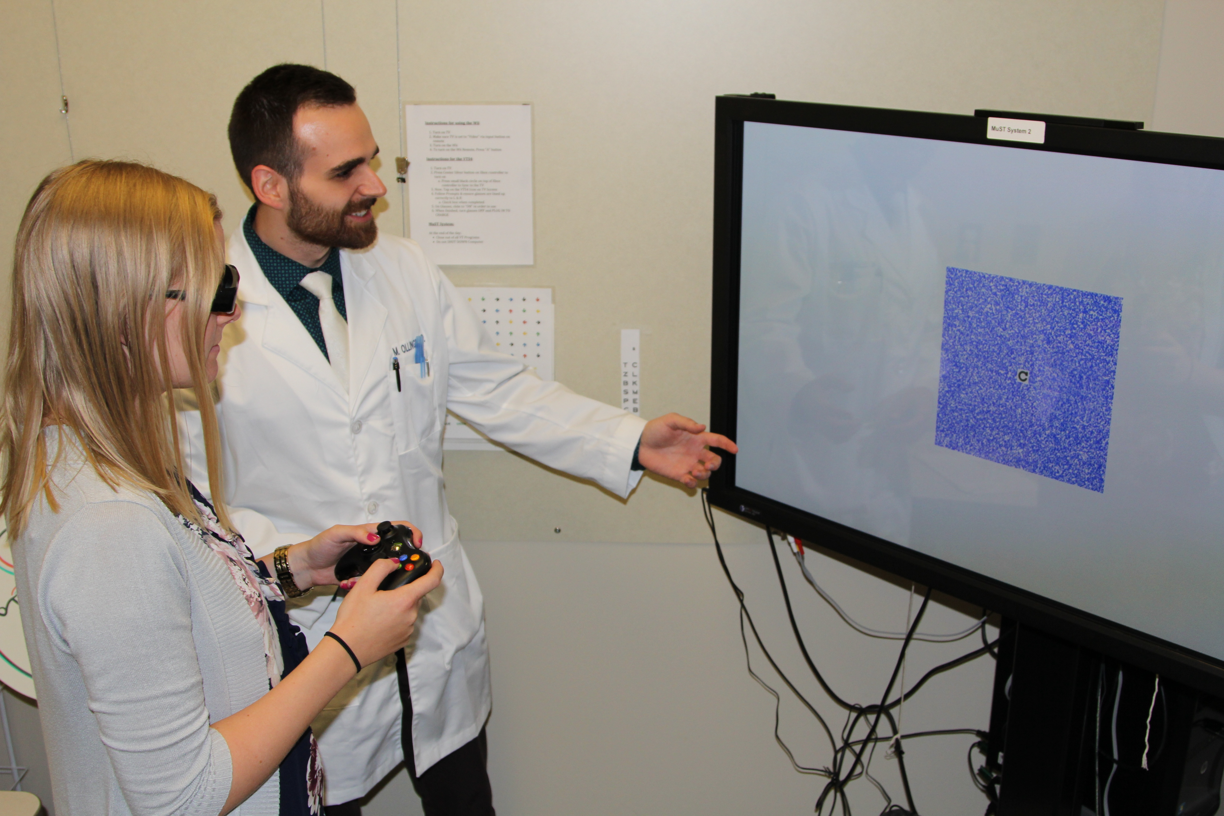 Morgan Ollinger, OD, right, is a current Michigan College of Optometry Pediatrics and Binocular Vision resident.