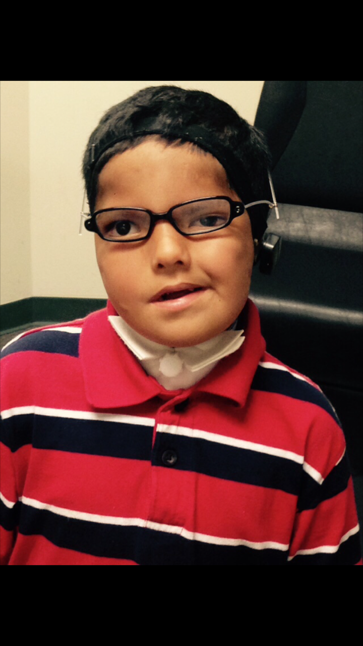 Tate, a patient of Dr. Carolyn Carman, OD at the Center for Sight Enhancement at the University of Houston's University Eye Institute
