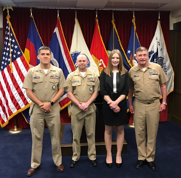 COMMISSIONING CEREMONY FOR THE U.S. NAVY AFTER RECEIVING THE HPSP SCHOLARSHIP
